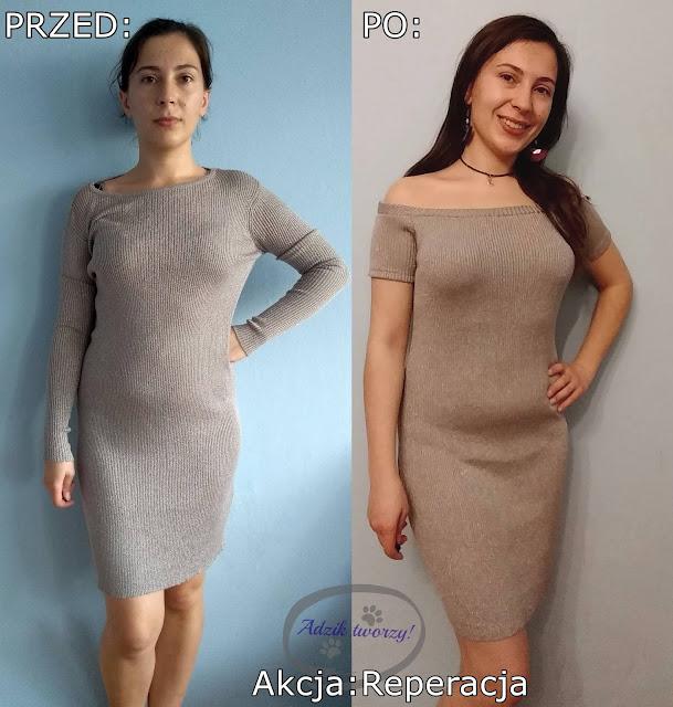 Akcja Reperacja u Adzika - przeróbka sukienki DIY