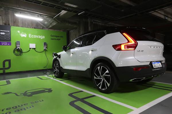 Volvo Cars terá 250 eletropostos em estacionamento Estapar