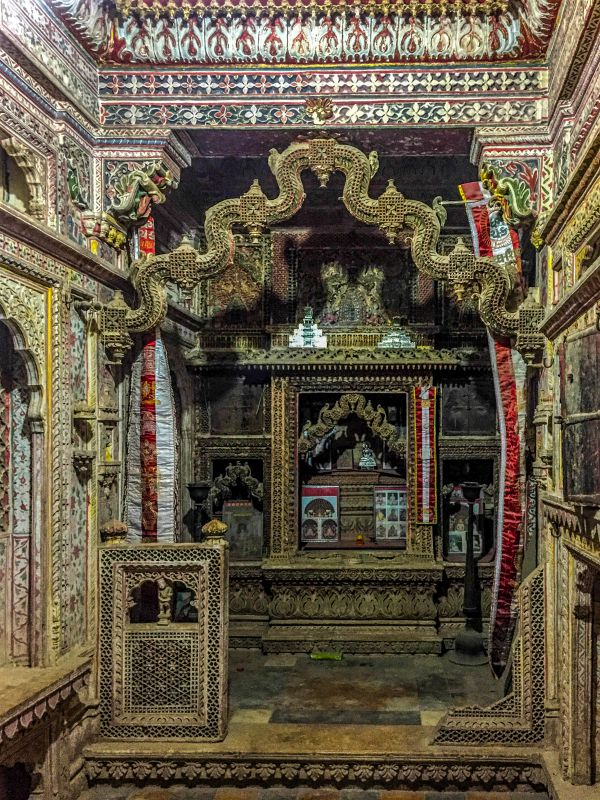 An Ornate Jain Mandir indide Patwa Haveli