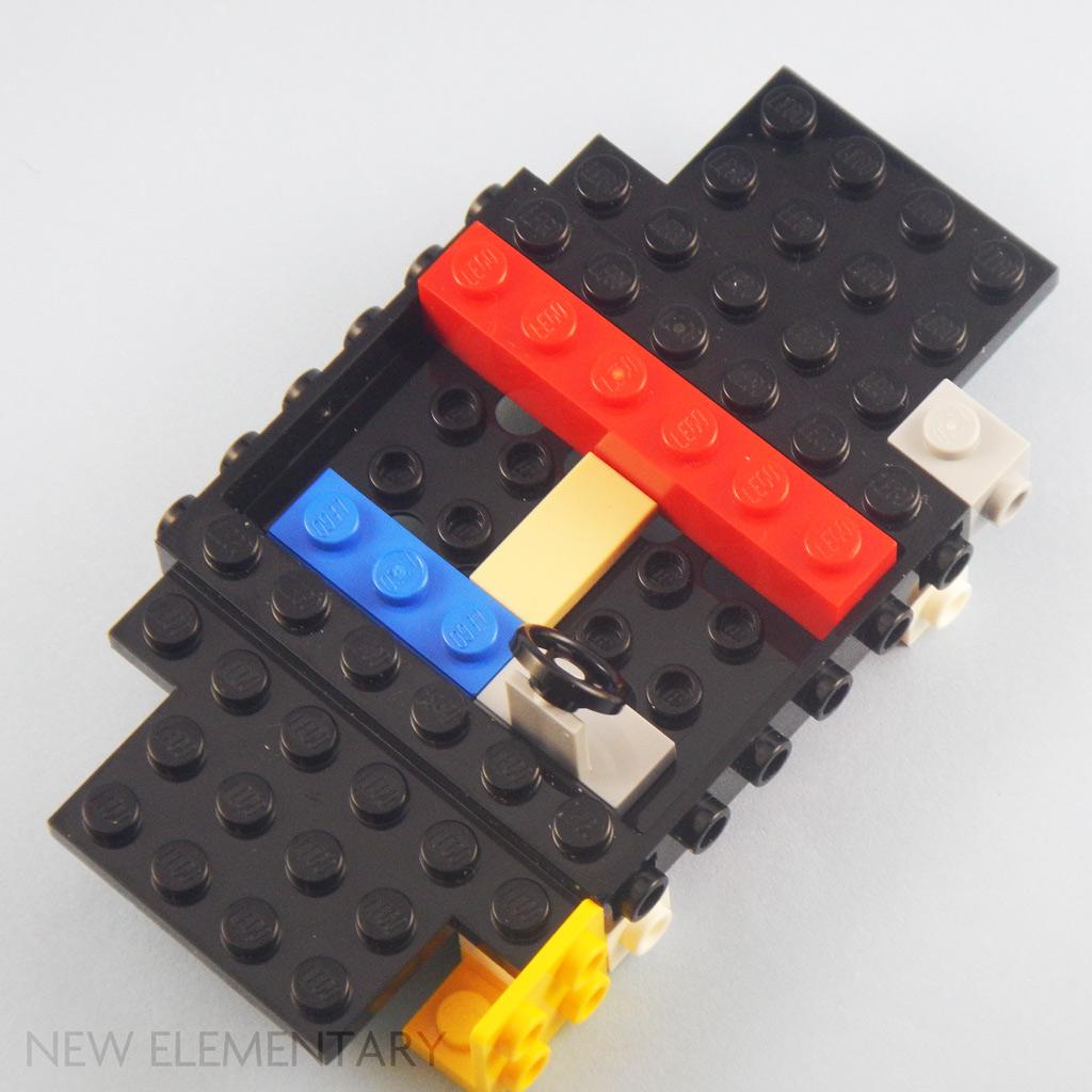 New LEGO Lot of 6 White 1x4 Edge Stud Plates