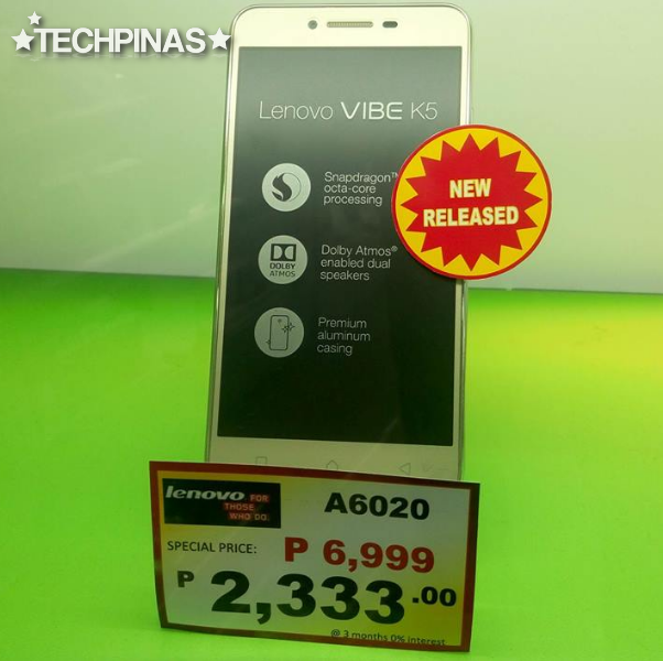 Lenovo Vibe K5 Philippines Price is Php 6,999, Full Specs