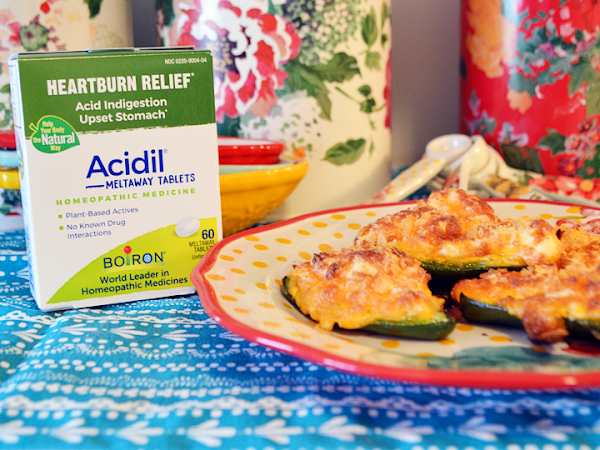 Comfort Food Without the Discomfort: How I Enjoy Jalepeno Poppers with Boiron Acidil Meltaway Tablets #BoironBetterBelly #ComfyBelliesByBoiron #Acidil