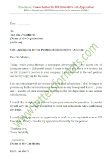 cover letter for human resources executive position