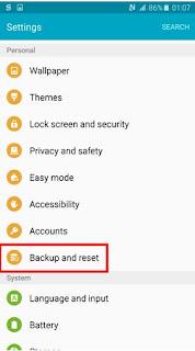 Cara Melakukan Factory Reset di Smartphone Android Samsung 3