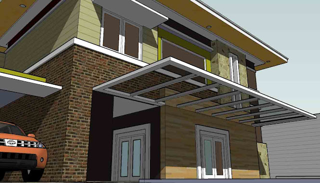 Kanopi Unik Baja Ringan 36 Gambar Model Rumah Minimalis Ini Patut Di Apresiasi