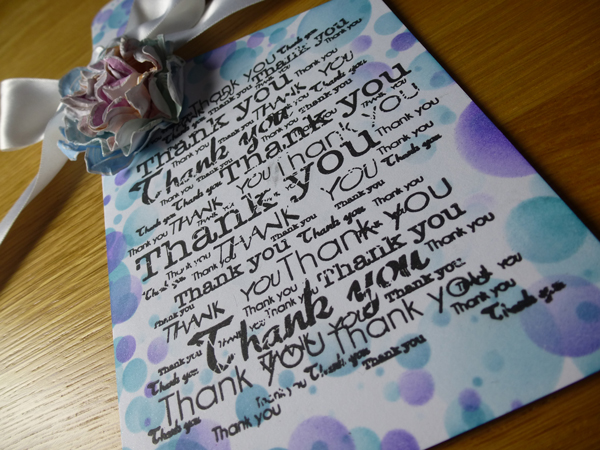 Thank You Door Hanger Card using Woodware products