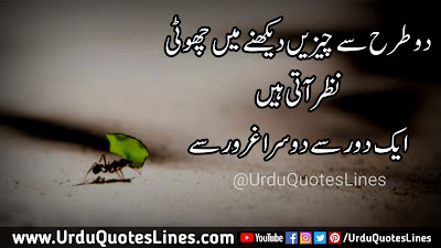 Do Tarah Se Cheezain Dekhne Main Choti || Inspirational Quotes In Urdu Quotes Lines