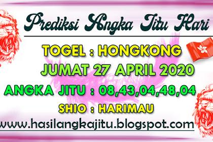 Prediksi Angka Jitu Togel Hongkong Senin 27 April 2020