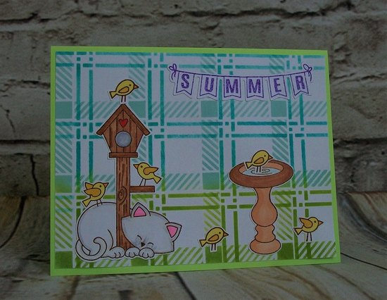 Summer by Becca features Plaid, Tweet Talk, and Newton's Birdhouse by Newton's Nook Designs; #newtonsnook