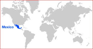 Gambar Peta letak Meksiko