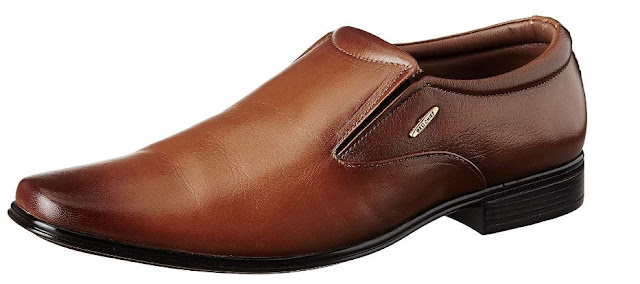 Red Chief Tan Leather Formal Shoes for Men RC1999 006
