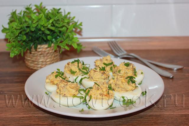 рецепт яиц, фаршированных сухими грибами