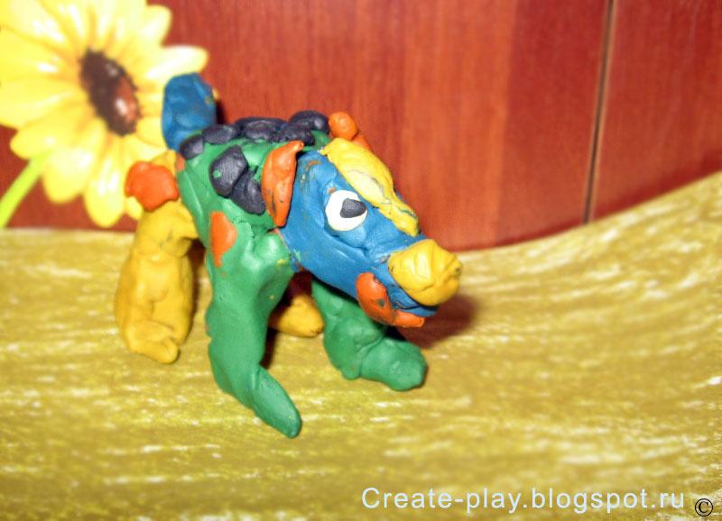 plasticine dog