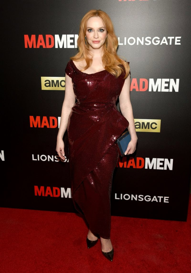 Christina Hendricks shows off curves at the 'Mad Men' screening in NY