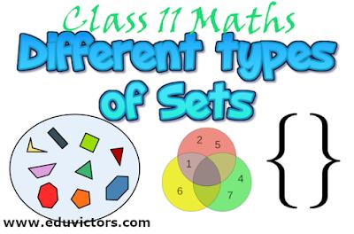 CBSE Class 11 - Maths - Chapter 1 - Different Types of Sets  (#class11Maths)(#cbsenotes)(#eduvictors)