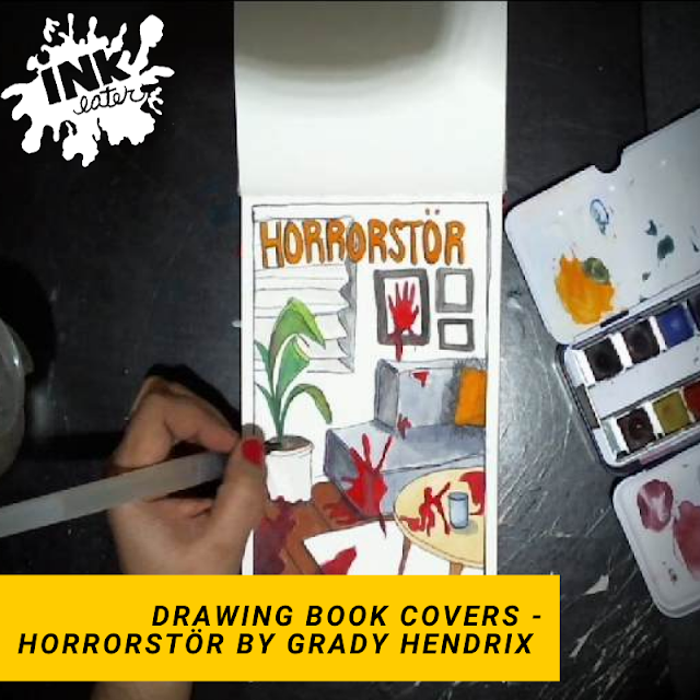 Horrorstör by Grady Hendrix - Drawing Book Covers - Horror book review 2020