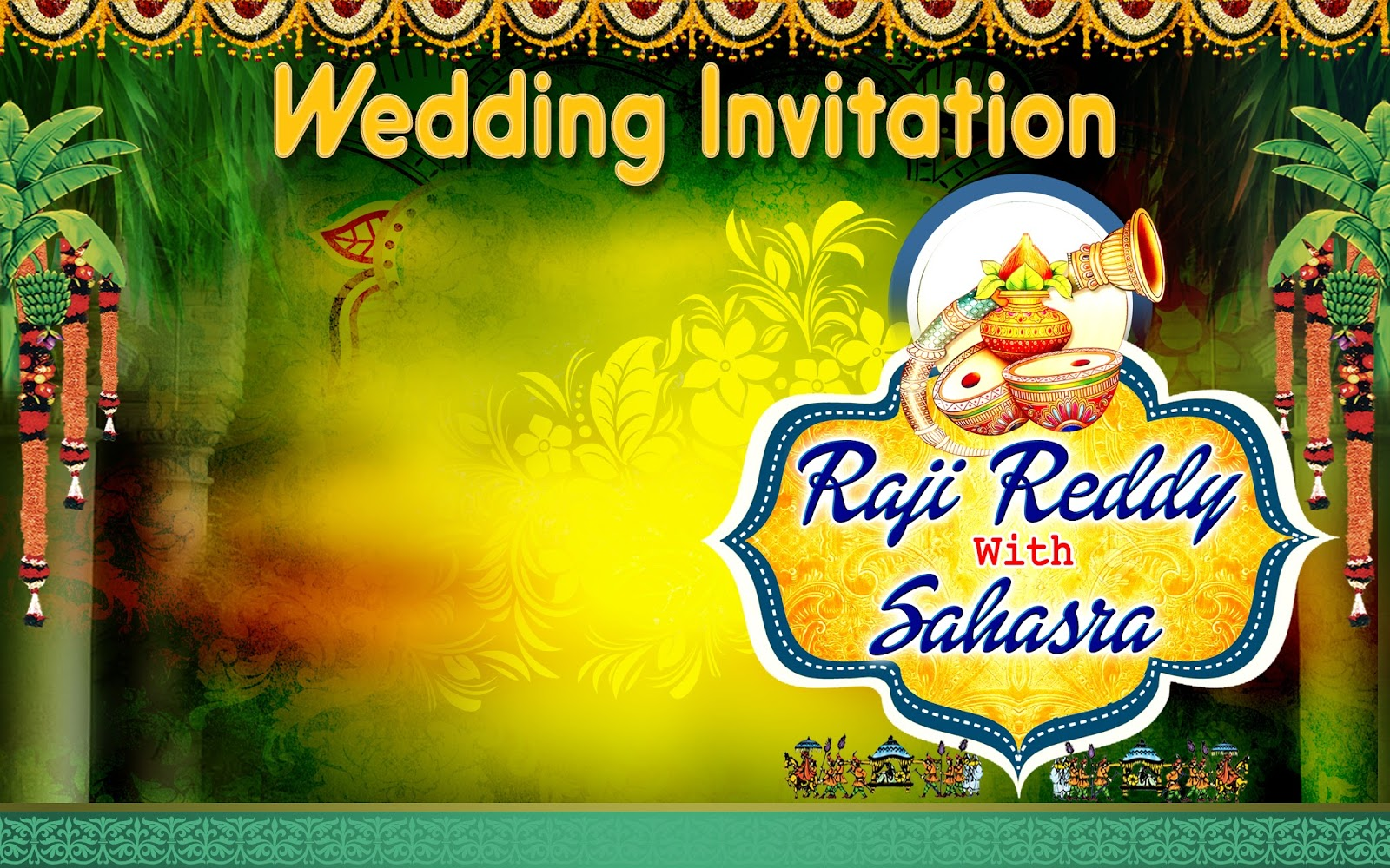 wedding flex banner design psd template free online
