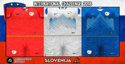 PES 6 Kits Slovenia National Team Season 2018/2019 by Alessandro