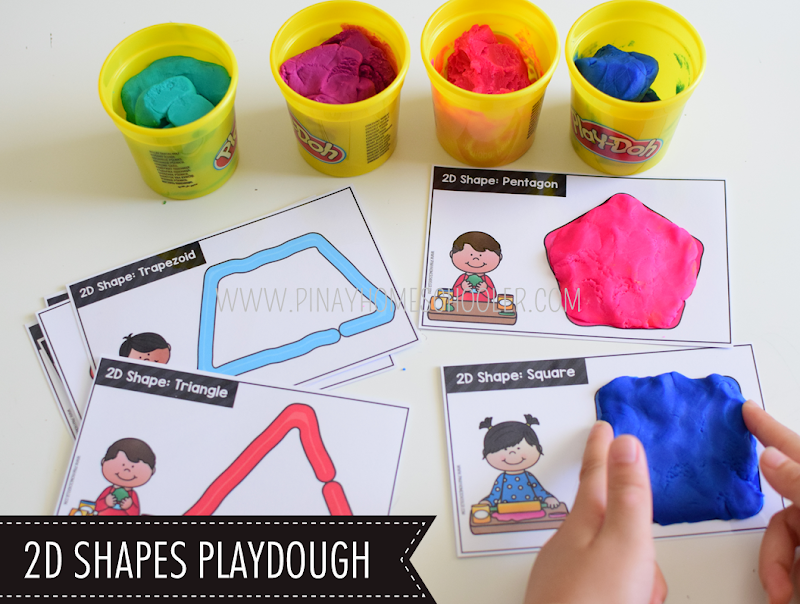 Kindergarten Math Shapes - Playdoh 2D Shapes Activity