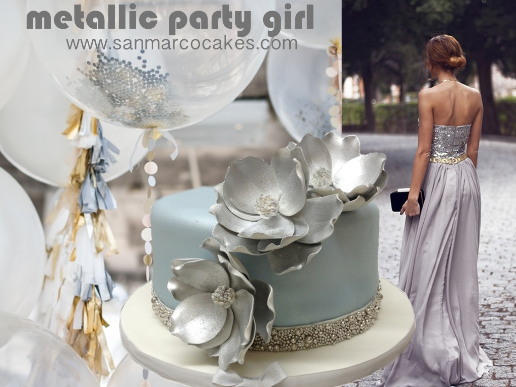 Metallic Party Girl Are You In Tune With This Season S Birthday Colors Montreal Custom Made Cakes