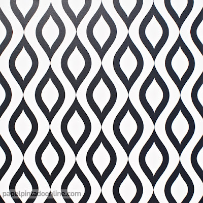 Papel pintado retro en blanco y negro 15,95 €