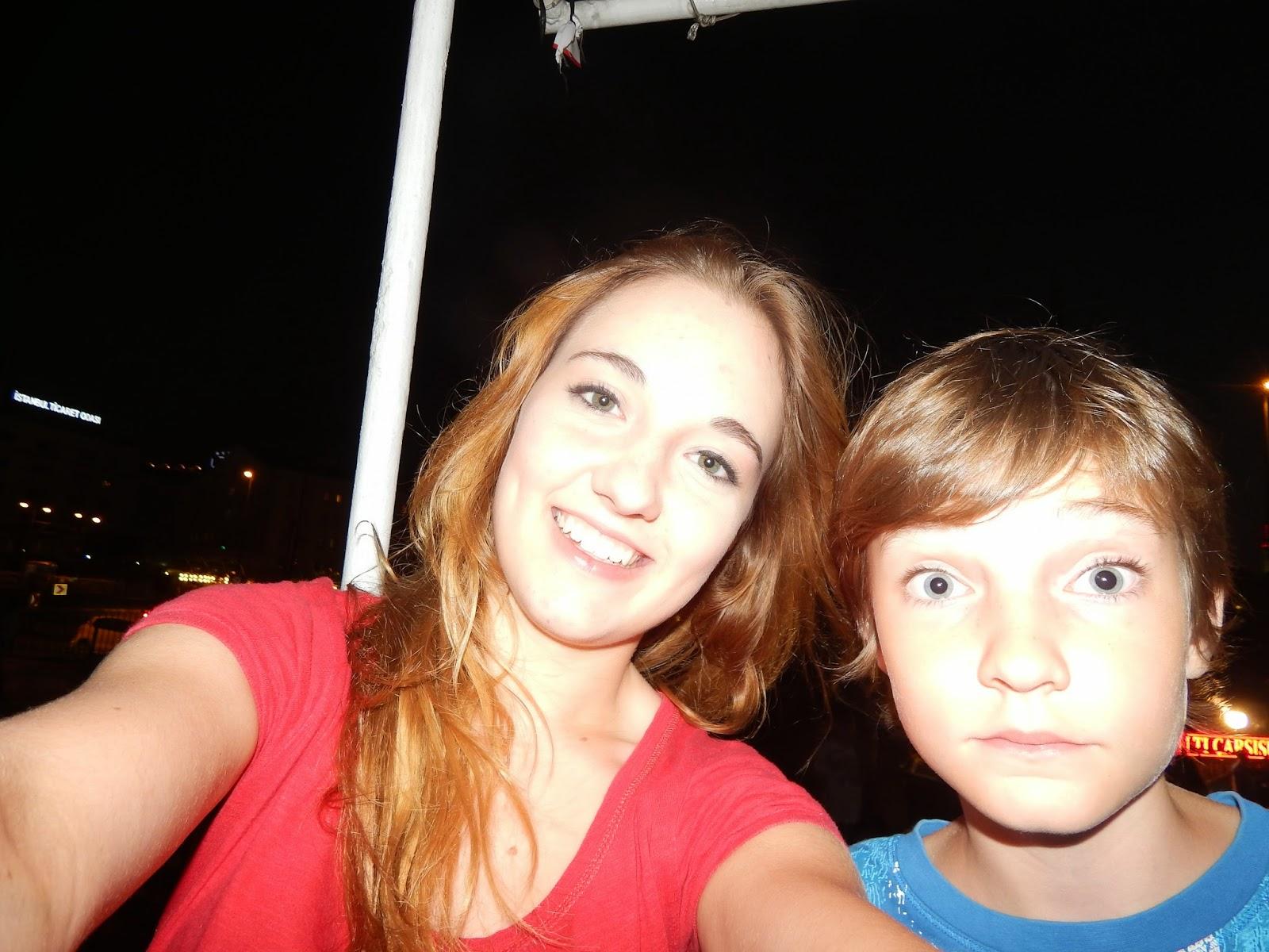 Selfie při plavbě po Bosporu