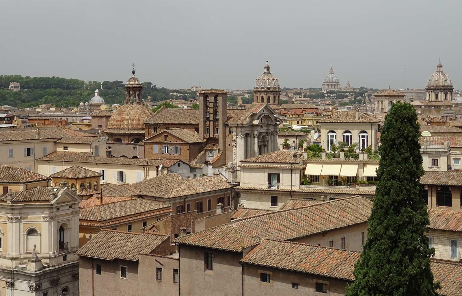 Voyage Italie Rome Vue depuis la terrasse Caffarelli