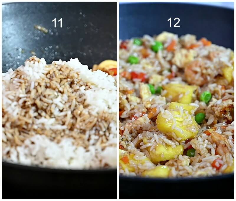 how to make authentic thai pineapple fried rice