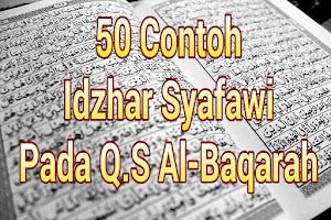 50 Contoh Idzhar Syafawi Dalam Surah Al Baqarah Lengkap Beserta Ayat