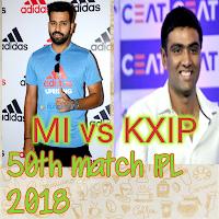 IPL 2018, Cricket Live score MI vs KXIP