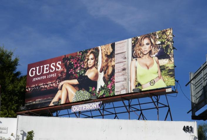 Jennifer Lopez Guess S2020 billboard
