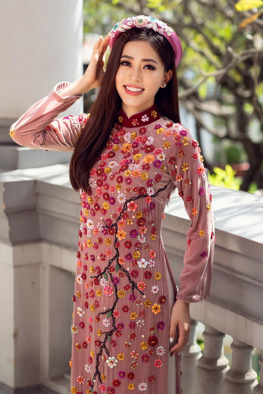 Top 3 Hoa hậu Việt Nam 2018 trang phục áo dài truyền thống