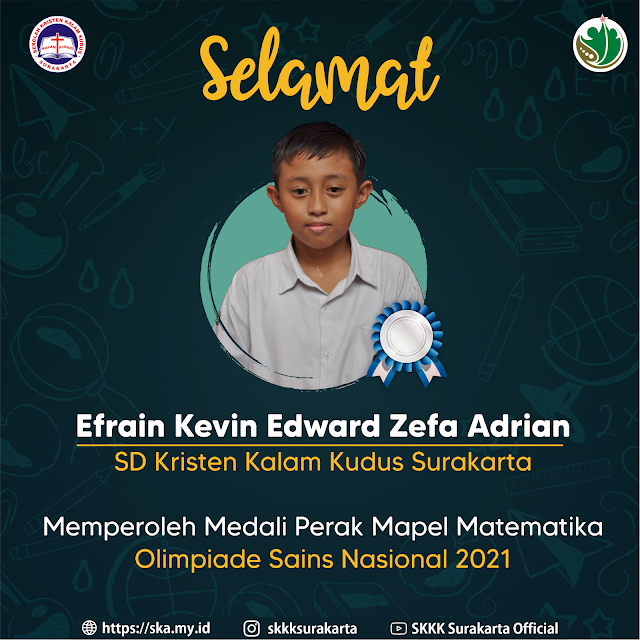 Efrain Kevin Edward Zefa Adrian Raih Medali Perak OLNAS 2021