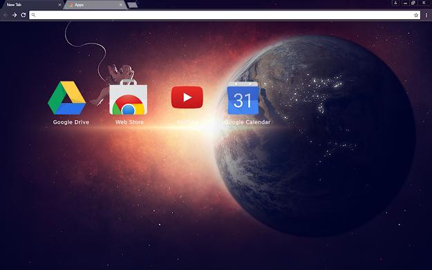 Lone Space Chrome Theme