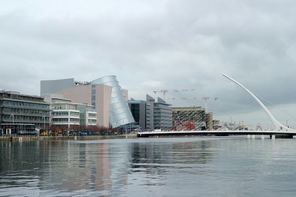 dublin liffey samuel beckett bridge pont convention center