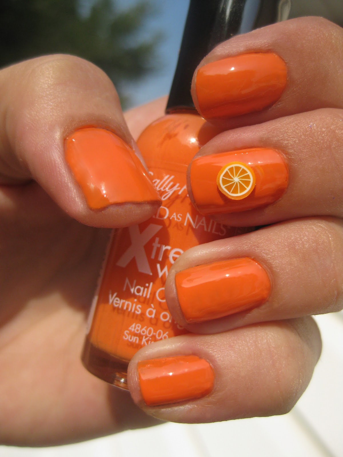 Orange Nails With Chevron And Glitter Nail: Nail Narcotics!: August 2012