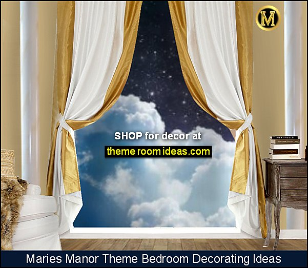gold drapes gold curtains Clouds Wallpaper Wall Mural Cloudy Wall Mural Wall Decor heaven bedrooms
