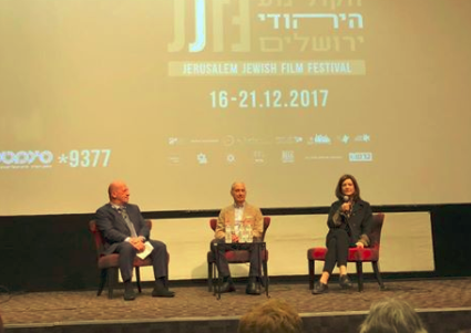 The Post Film Discussion In Jerusalem Featured Edwin Shuker Left David Dangoor Producer And Fiona Murphy Director
