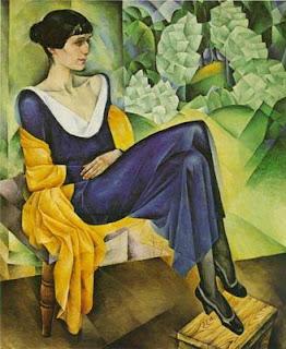 """Натан Альтман  """"Портрет Ахматовой"""", 1915 г."""