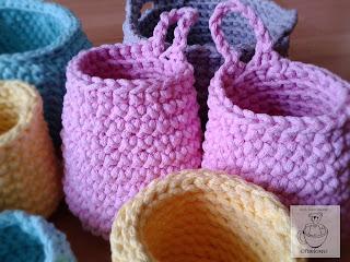 Koszyki ze sznurka bawełnianego - Ofuniowo