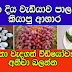 මෙන්න දිය වැඩියාව පාලනයට කියාපු ආහාර ඉතා වැදගත් වීඩියෝවක්.අනිවා බලන්න