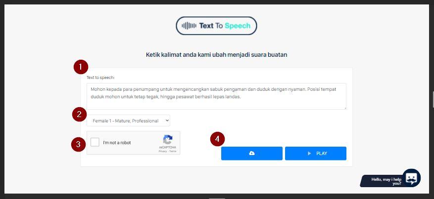 botika text to speech bahasa Indonesia