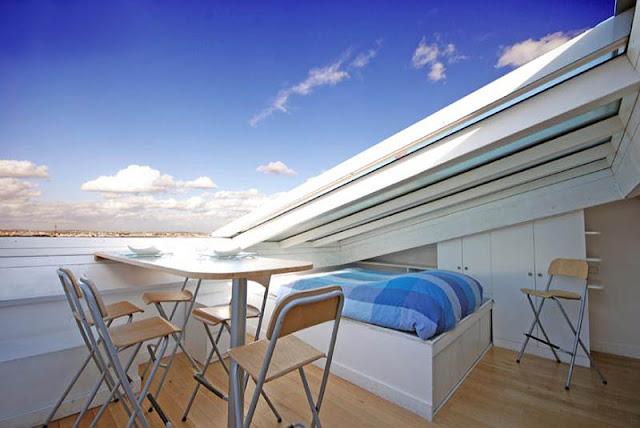 ouverture de toit pour faire une terrasse