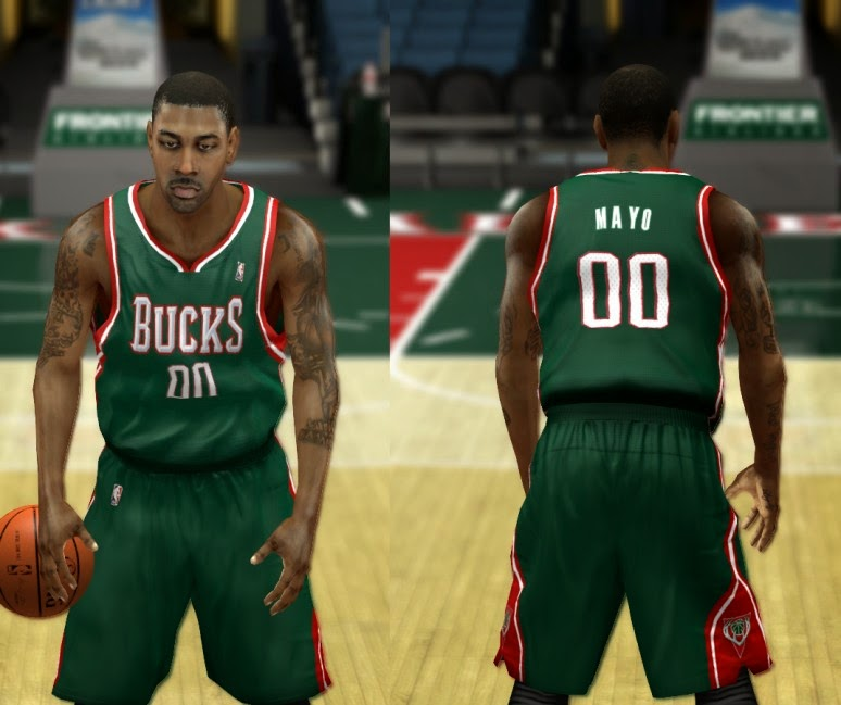 NBA 2K14 Milwaukee Bucks Jersey Mod Pack