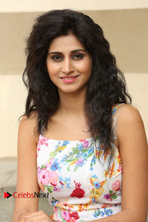 Actress Shamili Stills in Floral Short Dress at Sree Ramaraksha Song Launch 0110