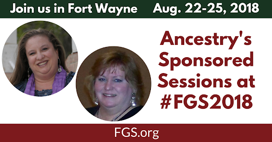 Ancestry's Sessions at FGS 2018