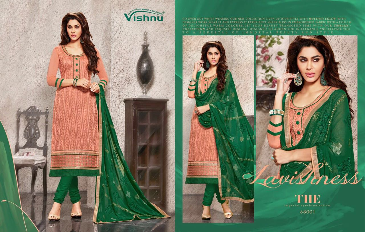 Muskan-heavy Chanderi Stylish Color of Designer Dress material