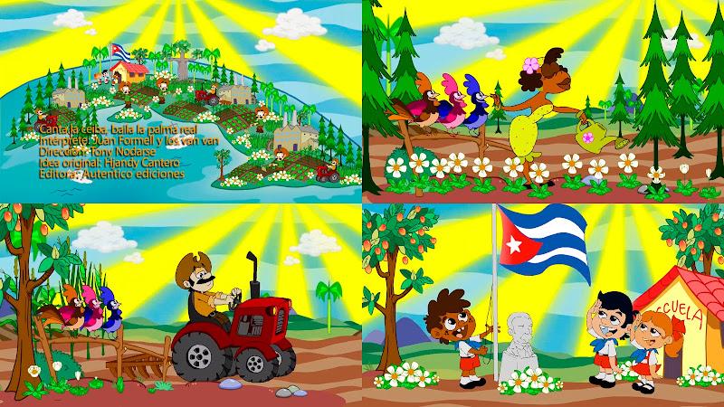 Juan Formell y Los Van Van - ¨Canta la Ceiba, baila la Palma Real¨ - Videoclip / Dibujo Animado - Director: Tony Nodarse. Portal Del Vídeo Clip Cubano