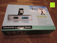 Verpackung: Tragbare elektronische Waage Gepäckwaage silber