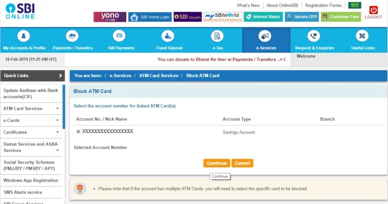 how to block sbi atm card, block sbi atm card, how to block sbi atm card online